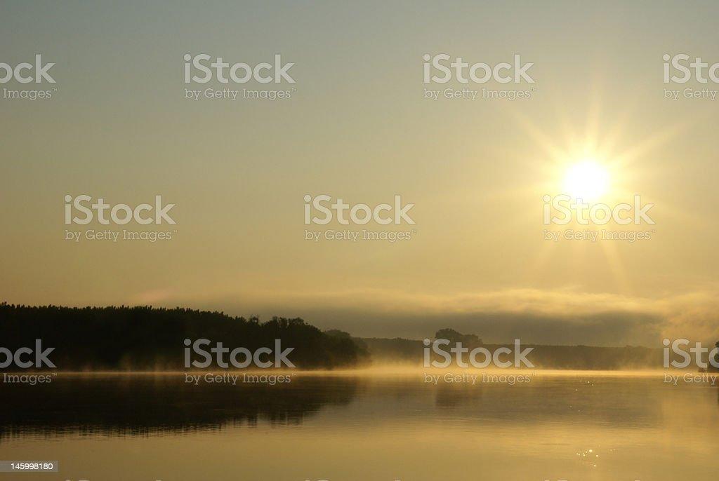 River mist royalty-free stock photo