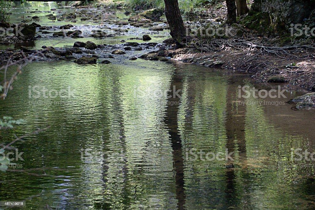 River Moravica stock photo