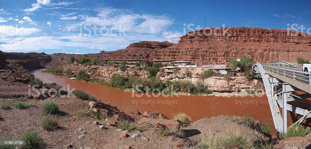 River motel stock photo