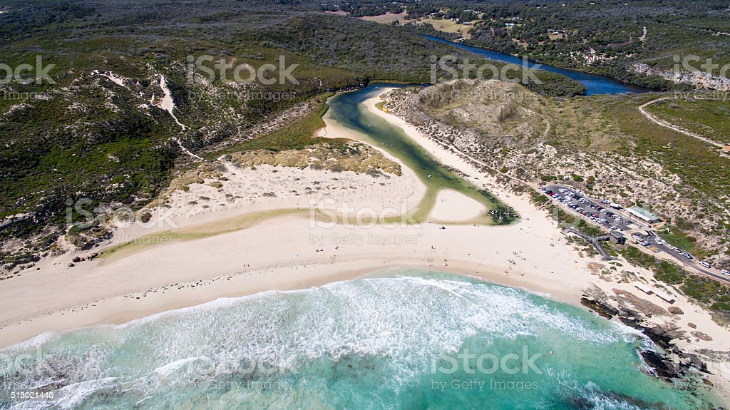 River Mouth stock photo