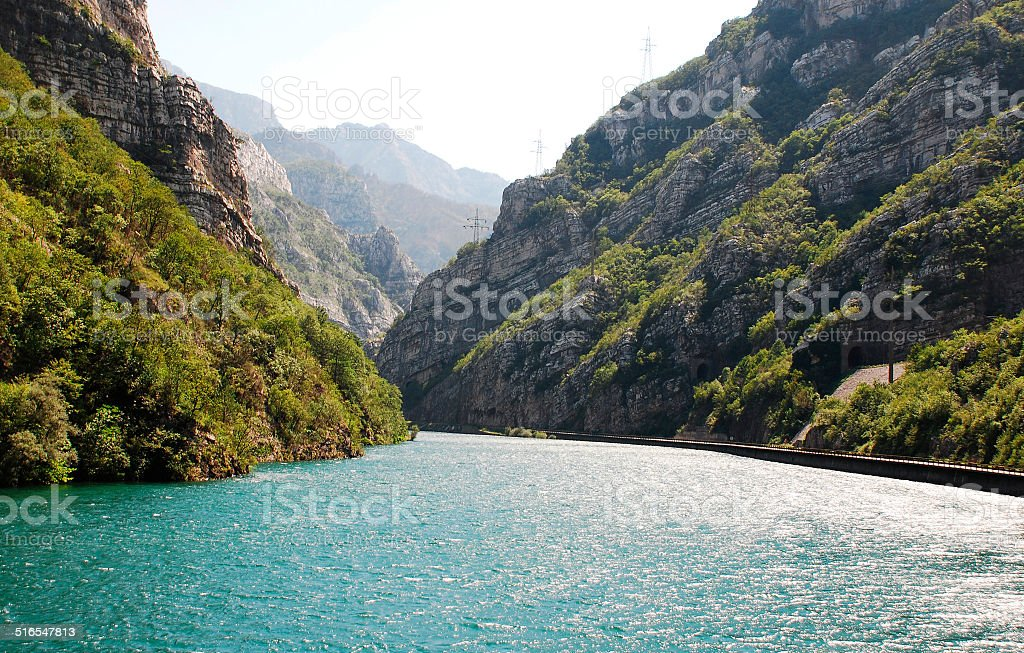 River Neretva Near Jablanica stock photo
