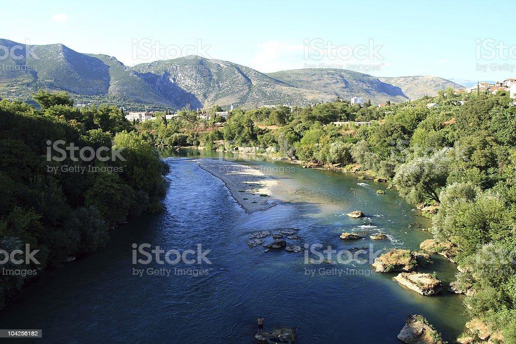 River Neretva stock photo