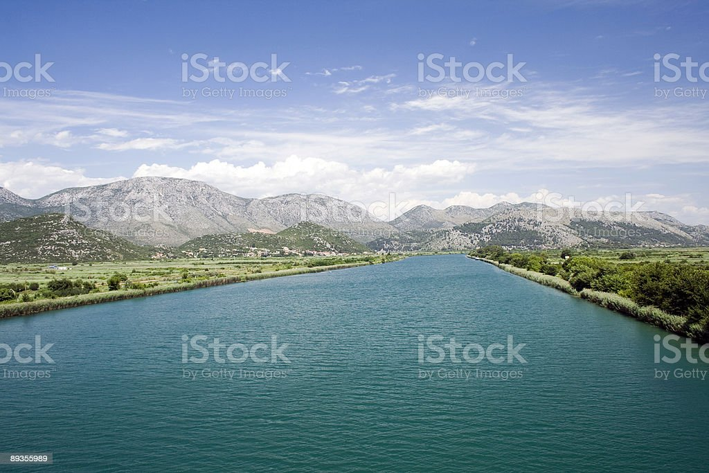 River Neretva stock photo