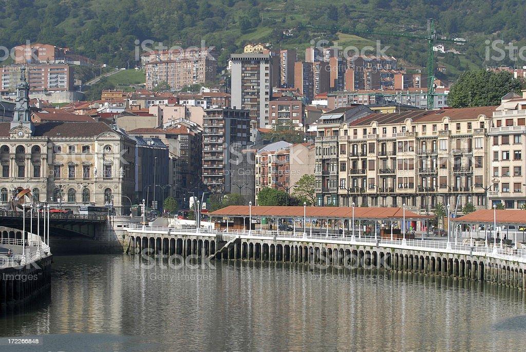 River Nervion, Bilbao stock photo