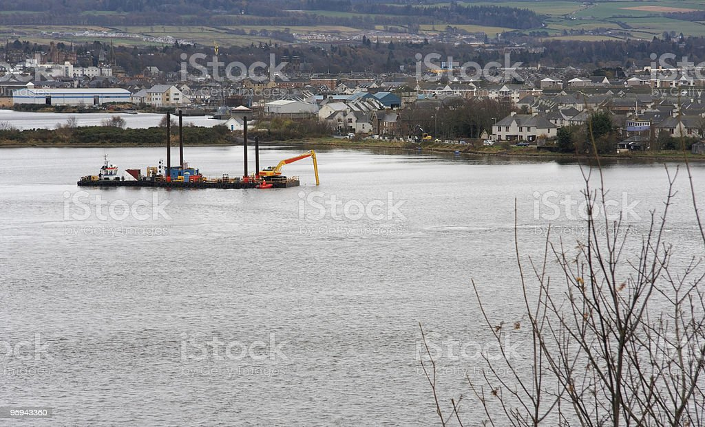 River Ness and ship royalty-free stock photo