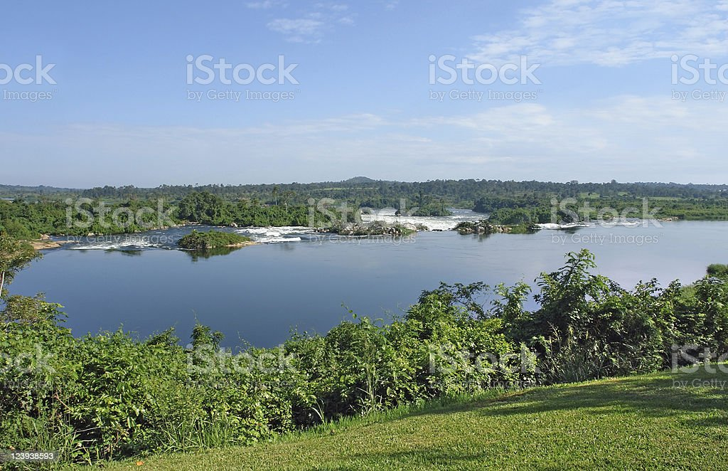 River Nile scenery near Jinja in Uganda royalty-free stock photo