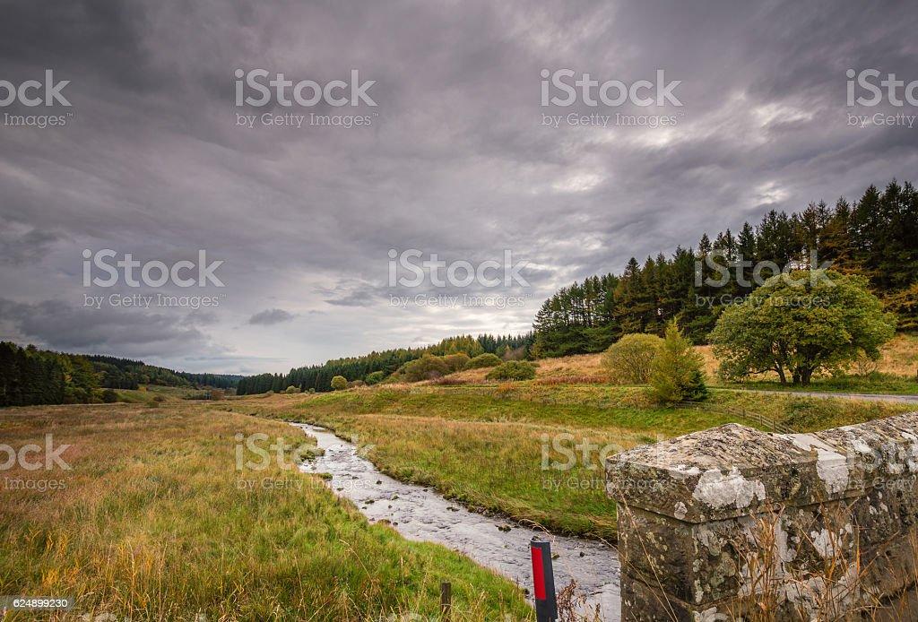 River North Tyne near Kielder Water stock photo