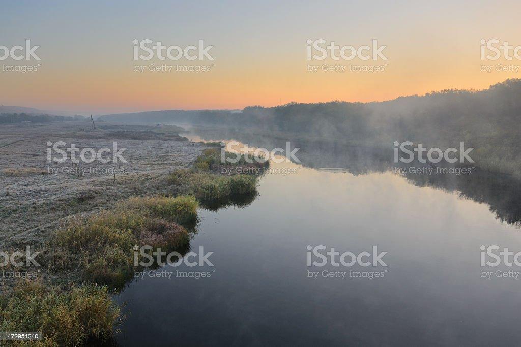 Río de otoño foto de stock libre de derechos
