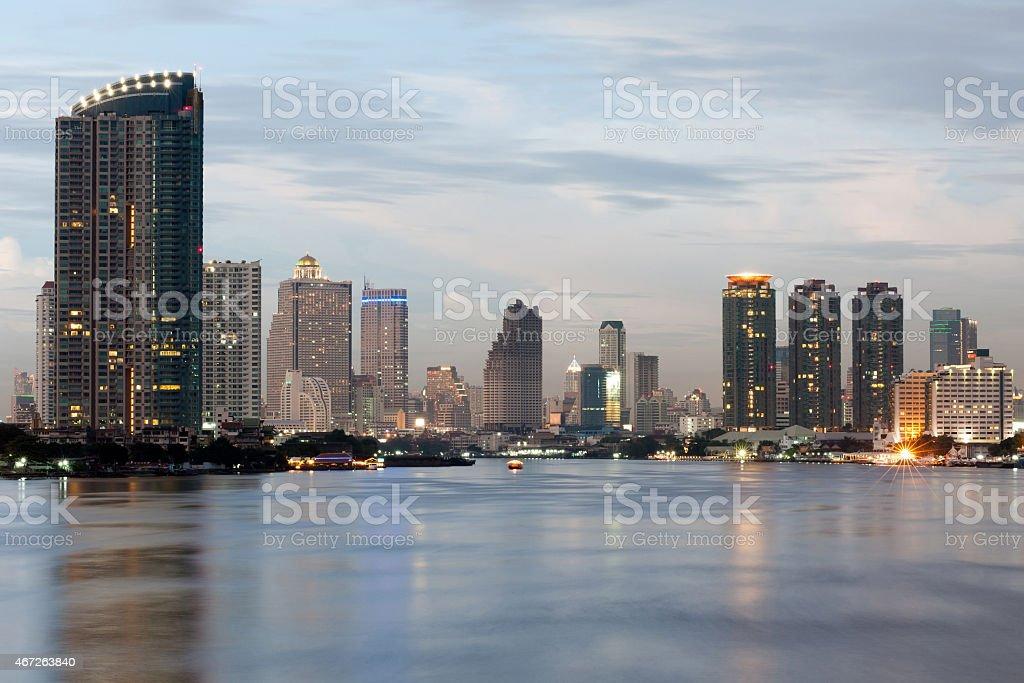 Rivière de Bangkok photo libre de droits