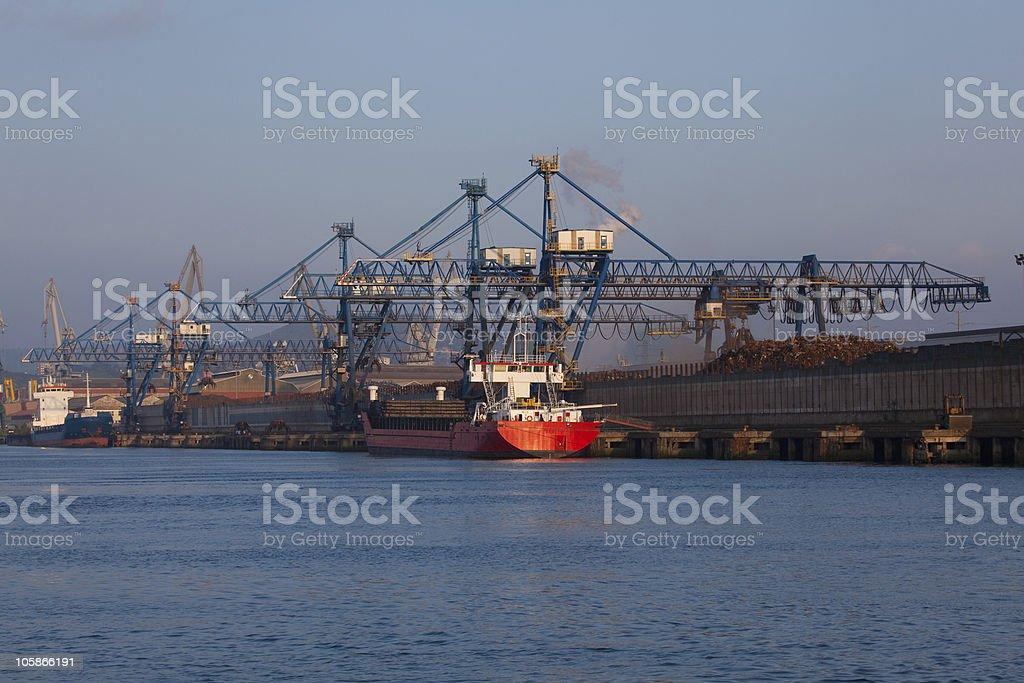 River of Bilbao stock photo