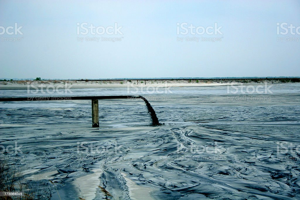 river of dust stock photo