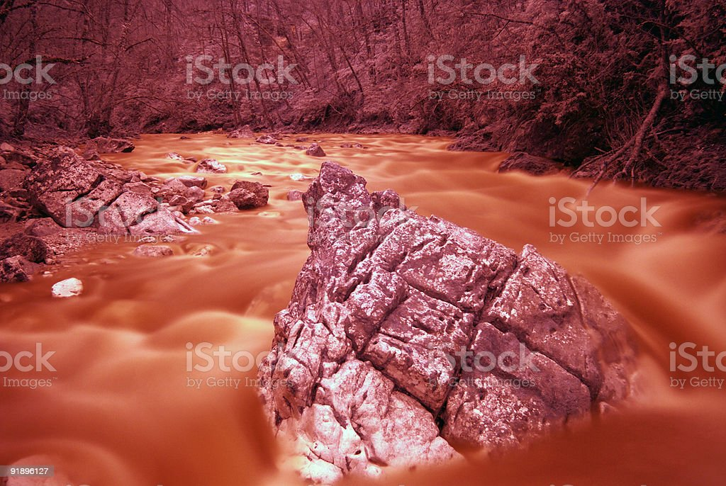 River of fire royalty-free stock photo