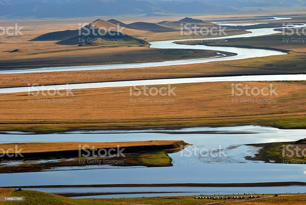 River of Huang He royalty-free stock photo
