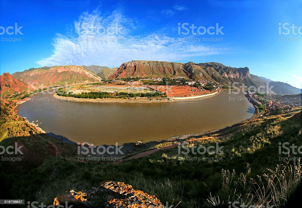 River of Huang He stock photo