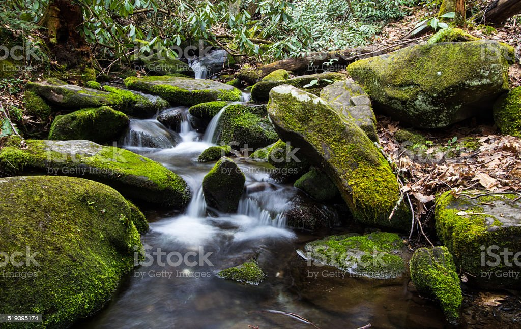River On The Roaring Fork Nature Trail stock photo