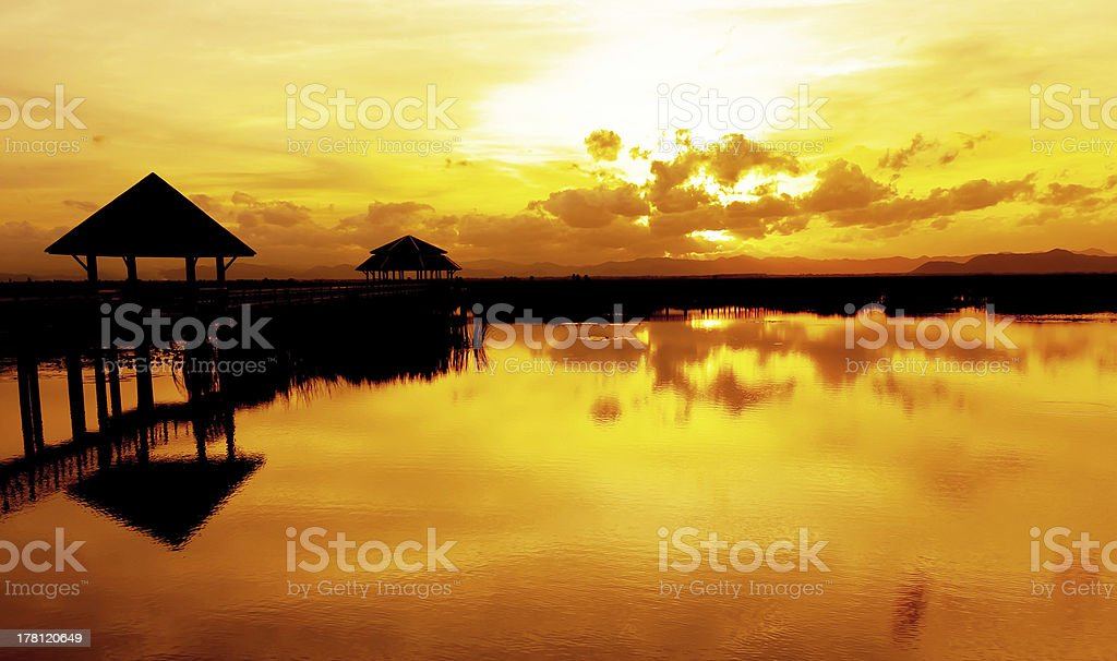 River on twilight time royalty-free stock photo