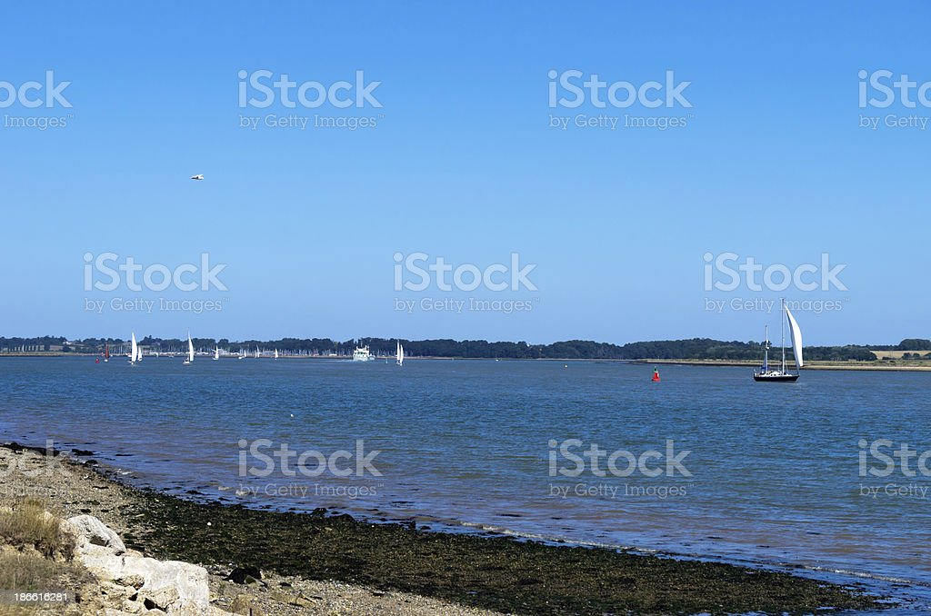 River Orwell estuary from Shotley royalty-free stock photo
