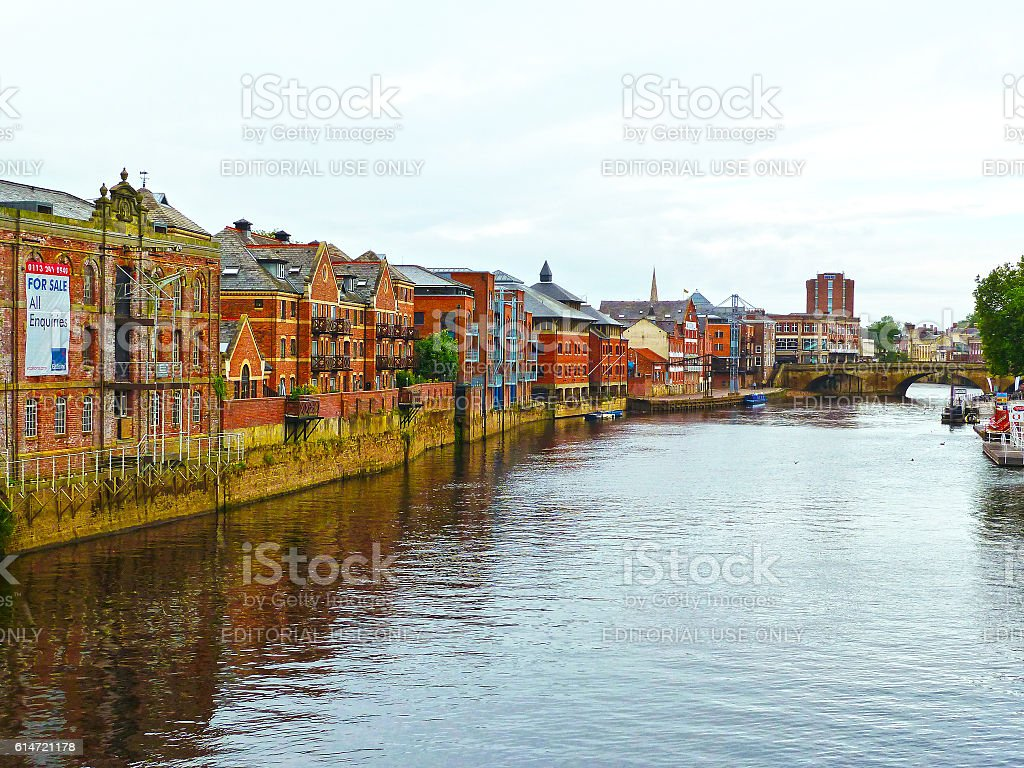 River Ouse in the city of York in England stock photo