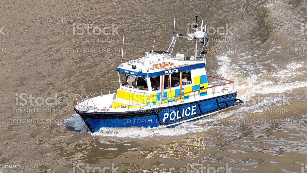River Police Boat. Marine Police Force stock photo