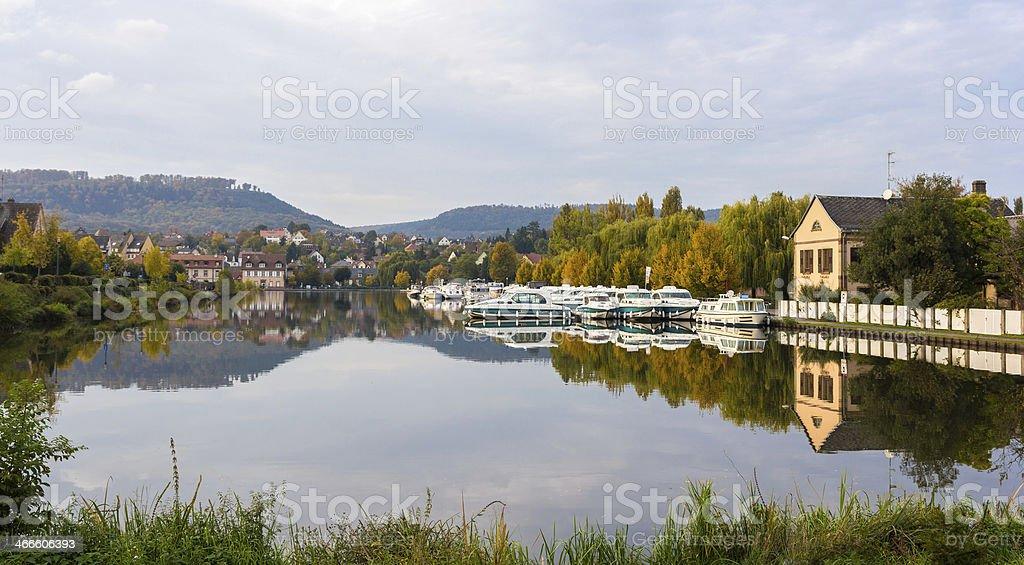 River port in Saverne, Alsase, France stock photo