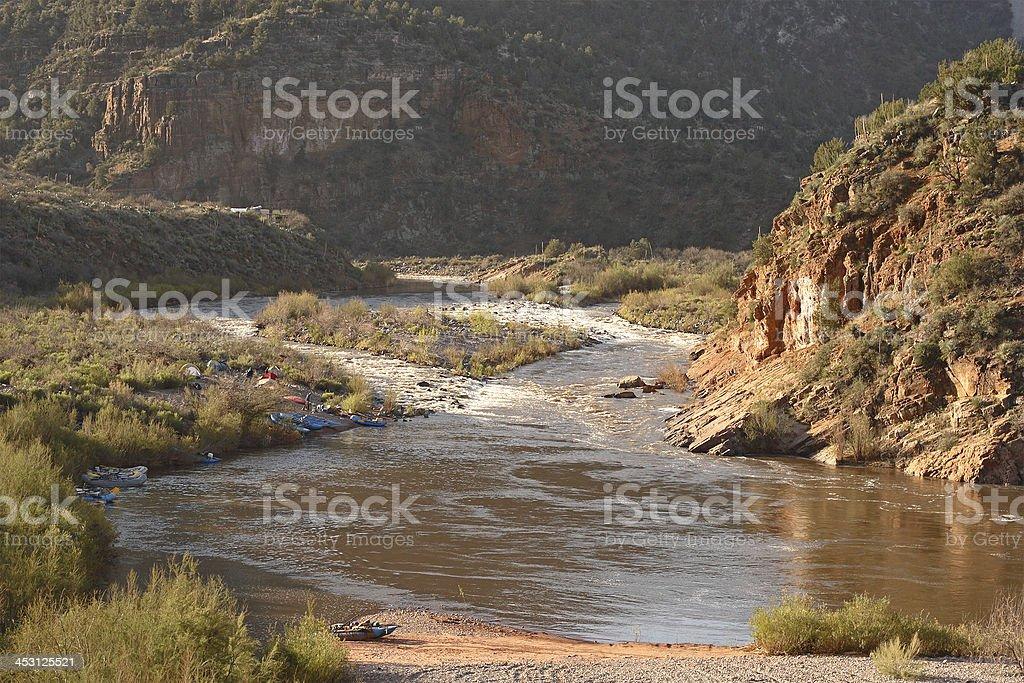 River Rafting Camp royalty-free stock photo
