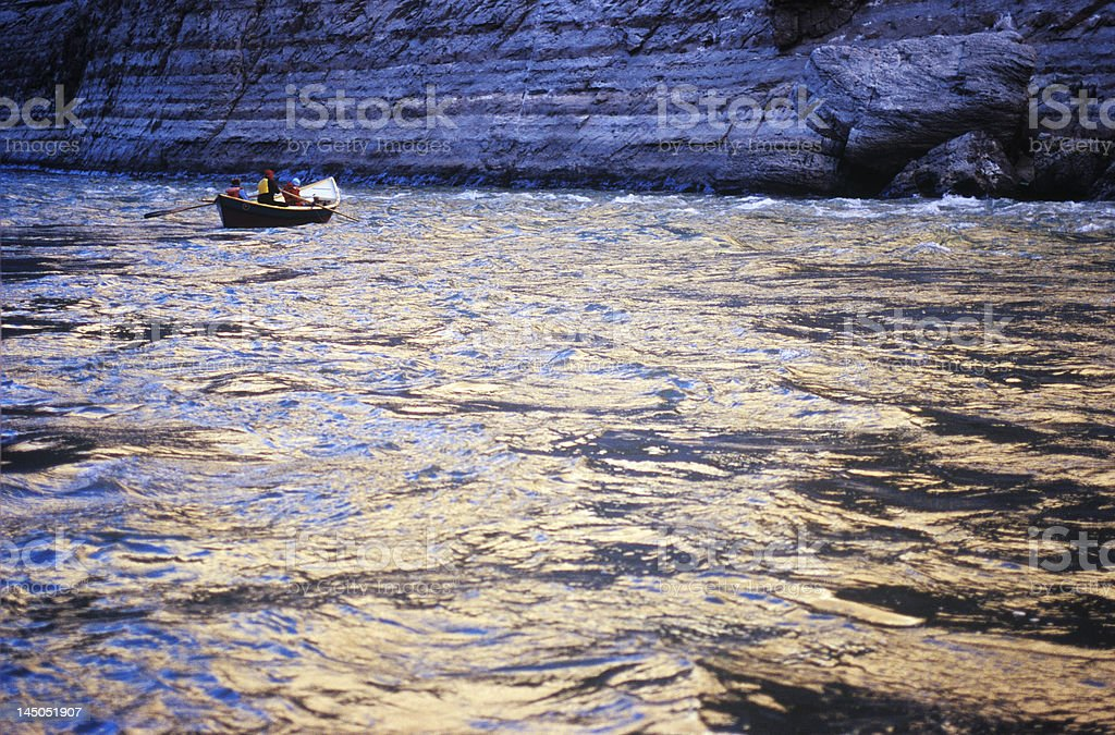 River Rafting in Grand Canyon royalty-free stock photo