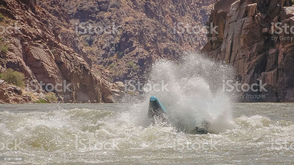 River Rafting in the Colorado River, Grand Canyon National Park stock photo