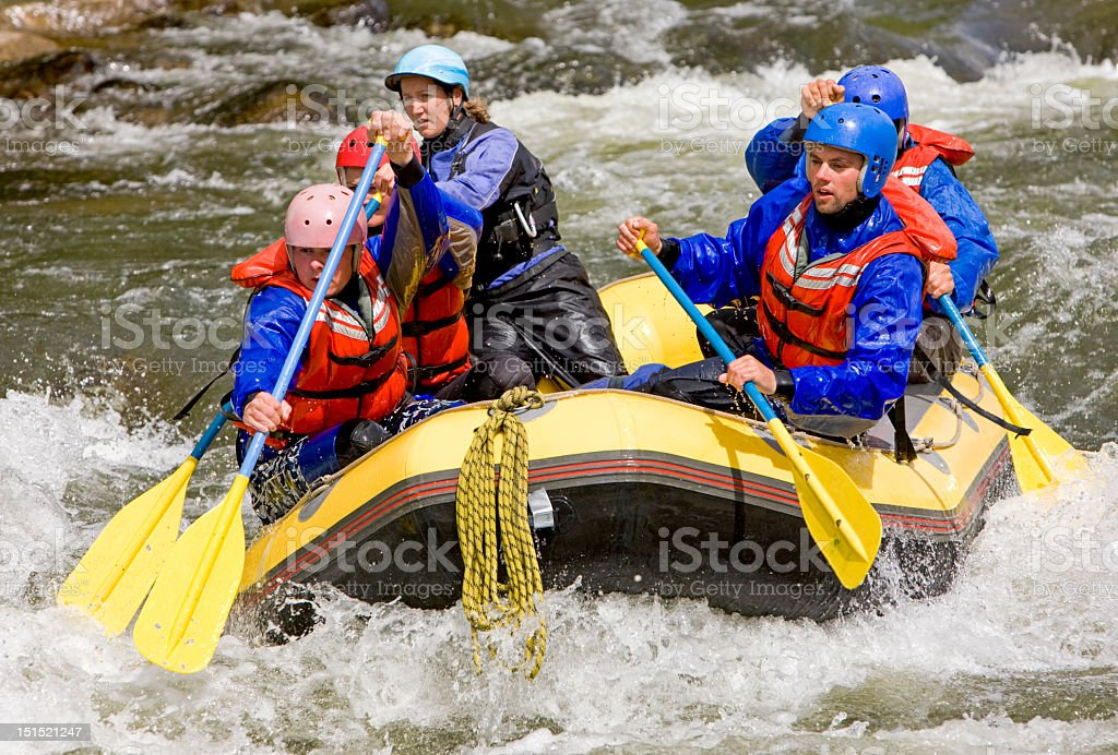 River Rafting In Western United States royalty-free stock photo