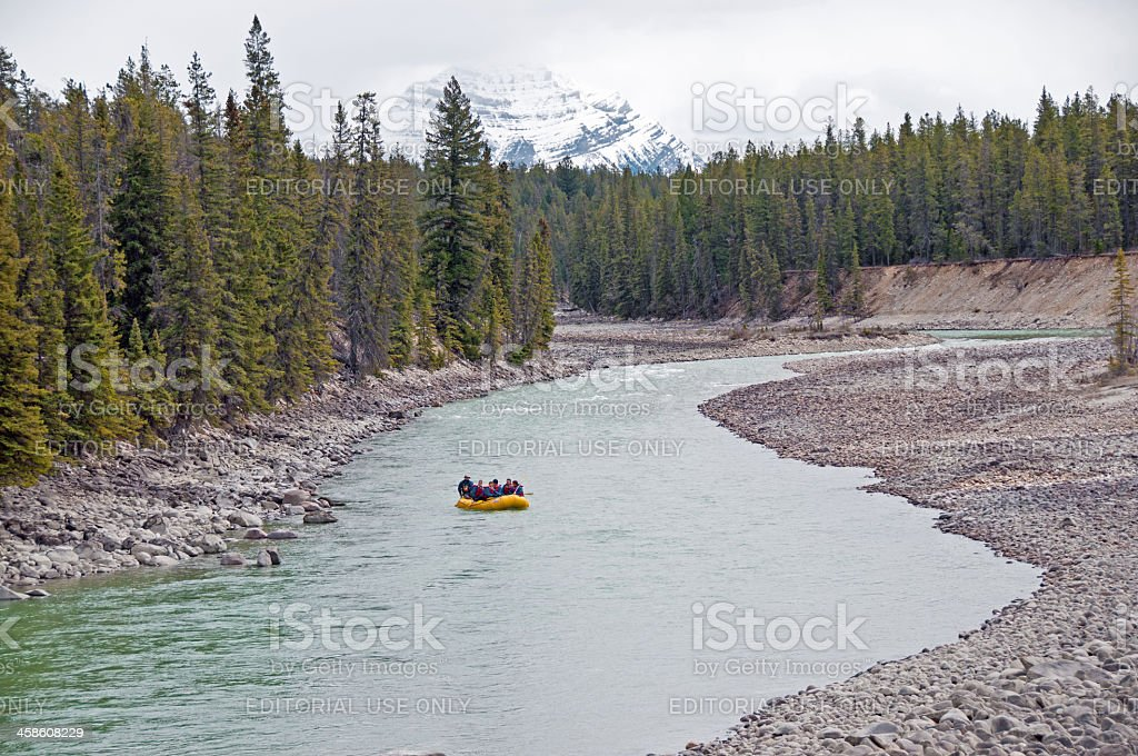 River Rafting Landscape royalty-free stock photo