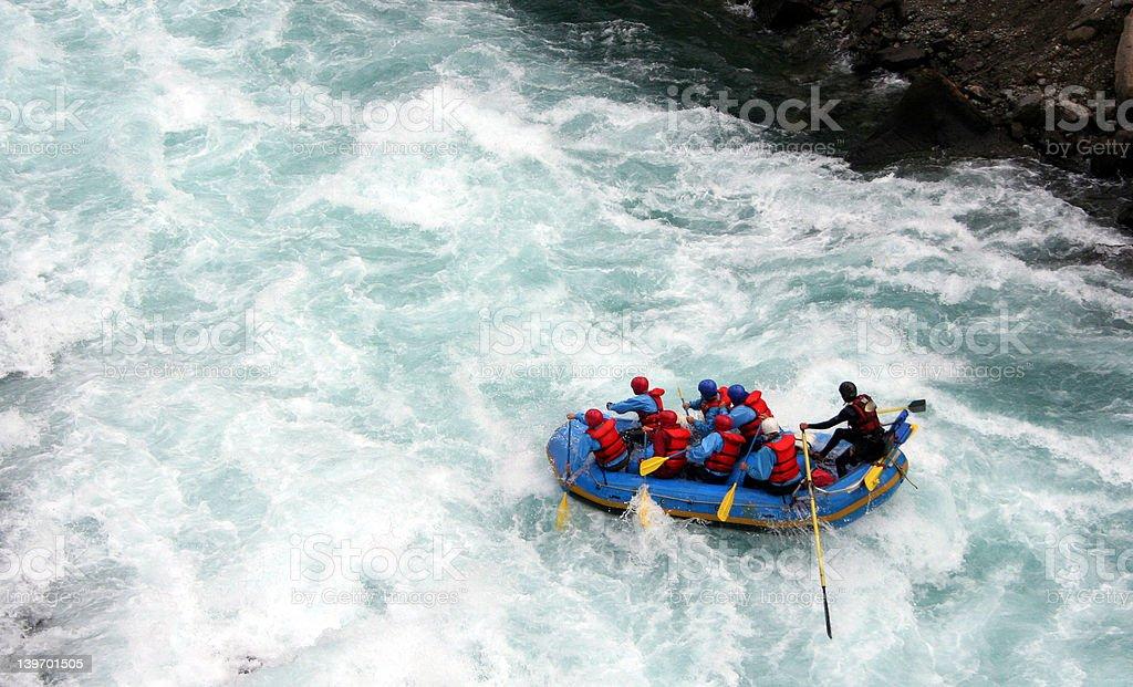 River Rafting stock photo