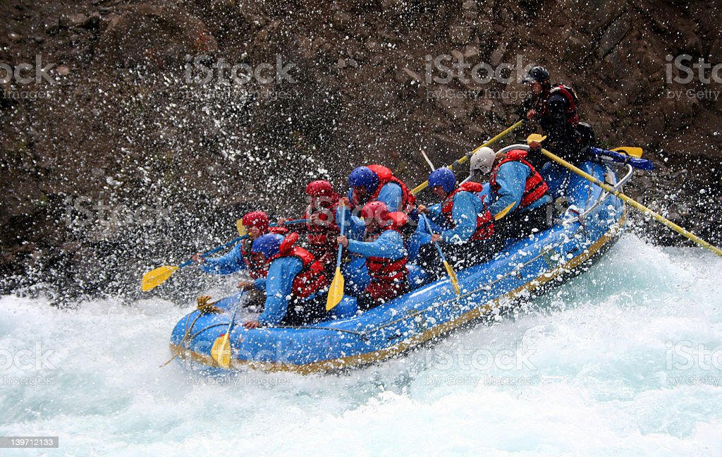 River Rafting stock photo