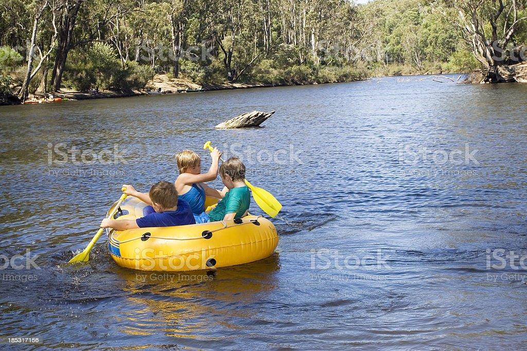 River Rafting royalty-free stock photo