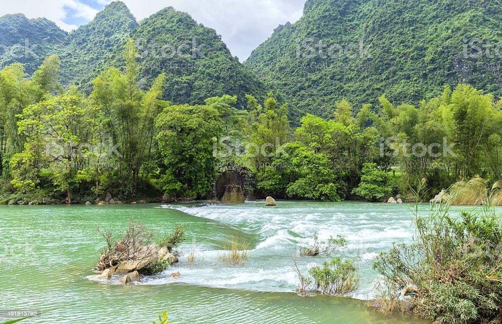 River rapids on homeland stock photo
