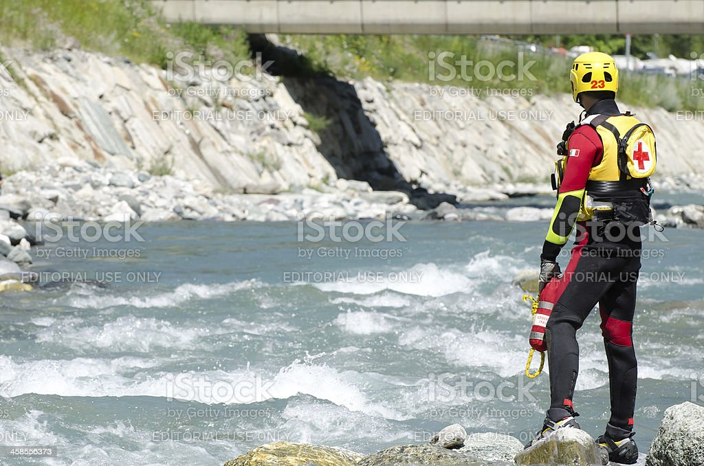 River Rescue of the Red Cross royalty-free stock photo