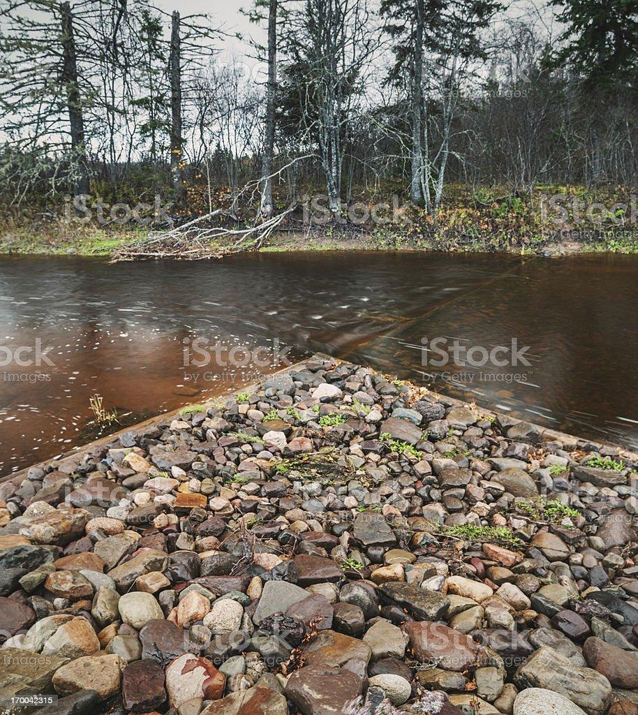 River Restoration royalty-free stock photo