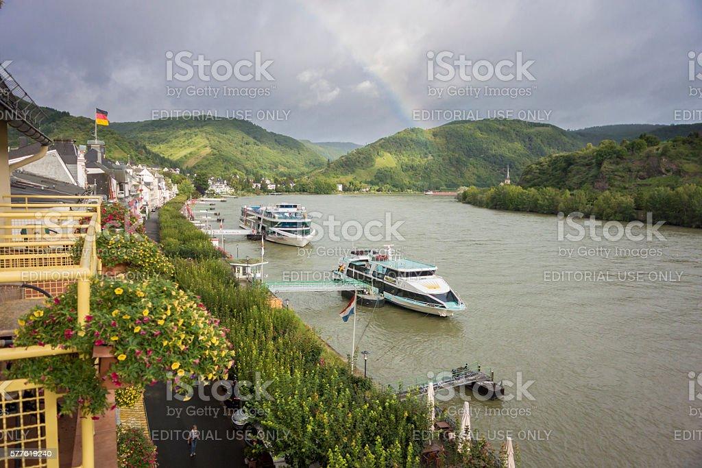 River Rhine at Boppard, Germany stock photo