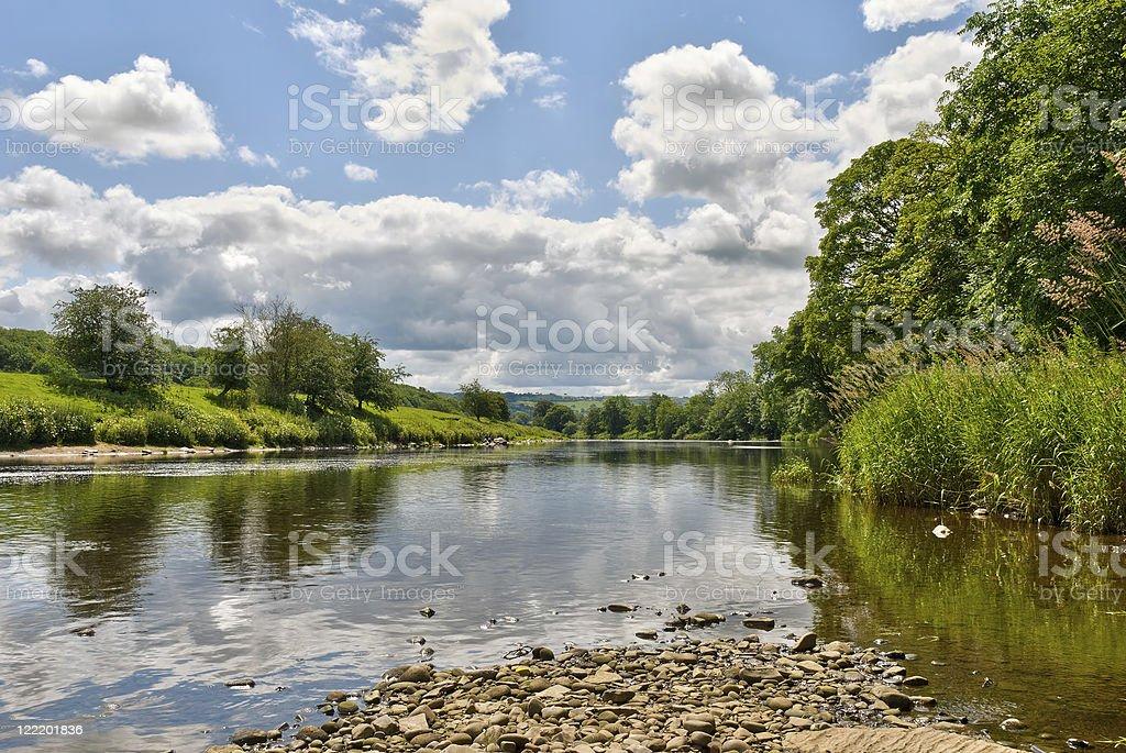 River Ribble scenic royalty-free stock photo