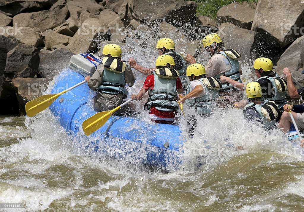 River Riders royalty-free stock photo