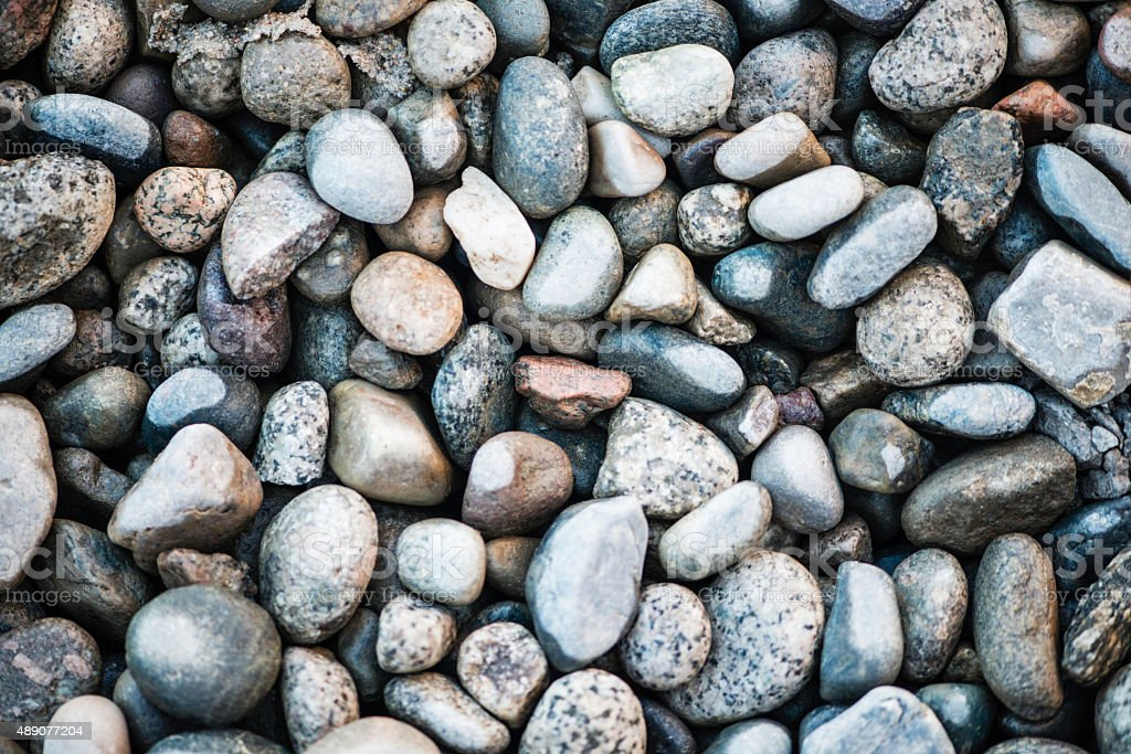River rock background stock photo
