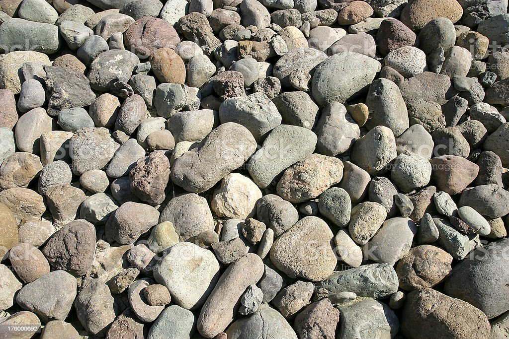River Rock Landscaping stock photo