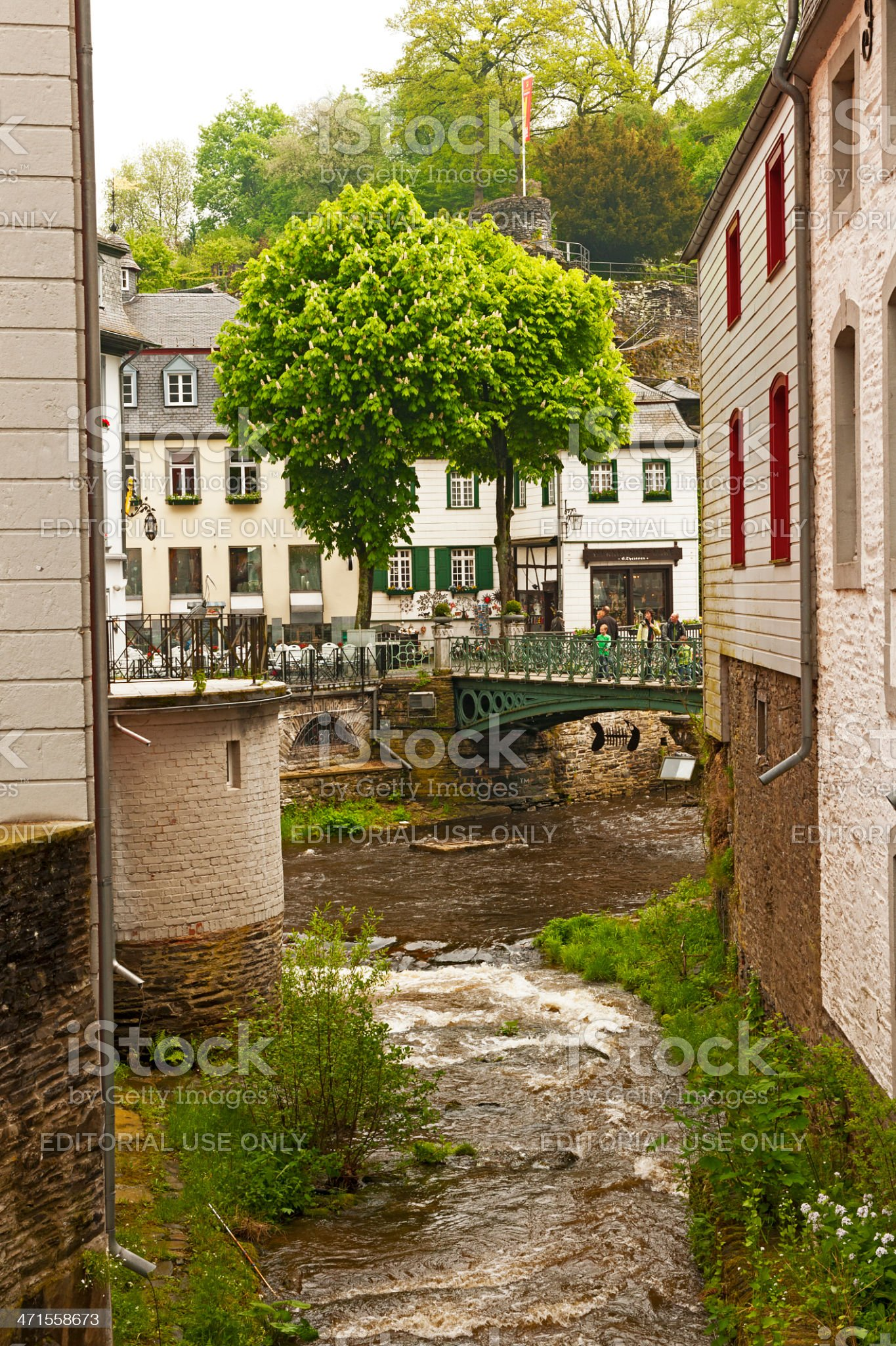 River Ruhr in Monschau royalty-free stock photo