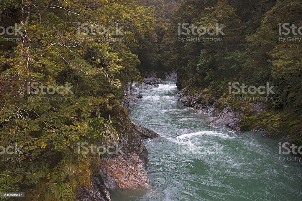 River run stock photo
