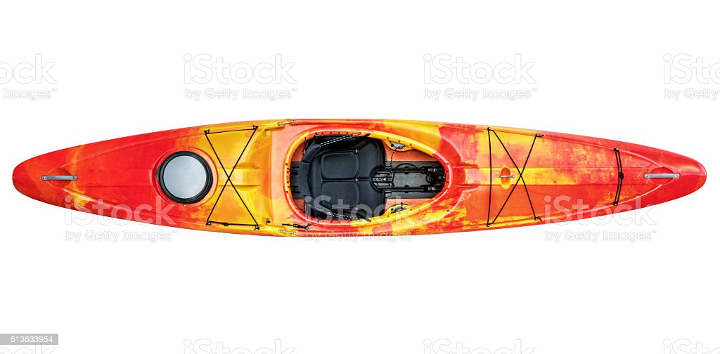 river running kayak isolated stock photo