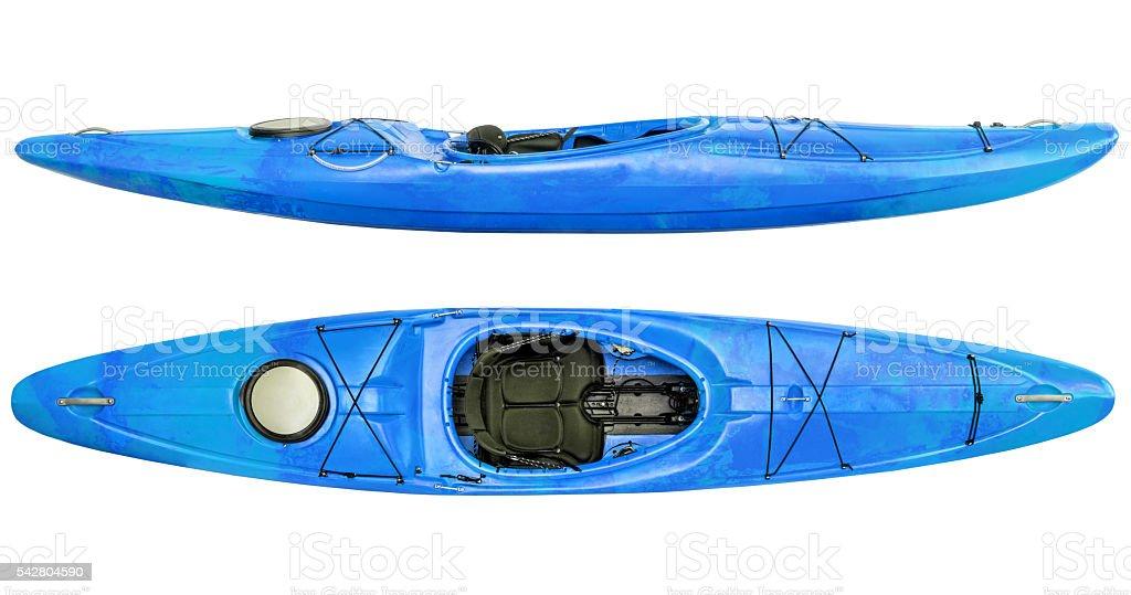 river running kayak isolated stock photo