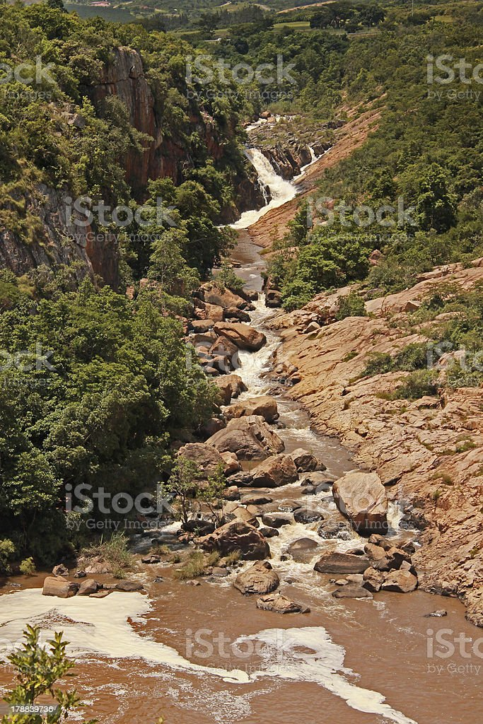 River running through rocky gorge royalty-free stock photo