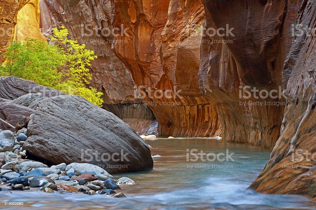 River runs through it stock photo