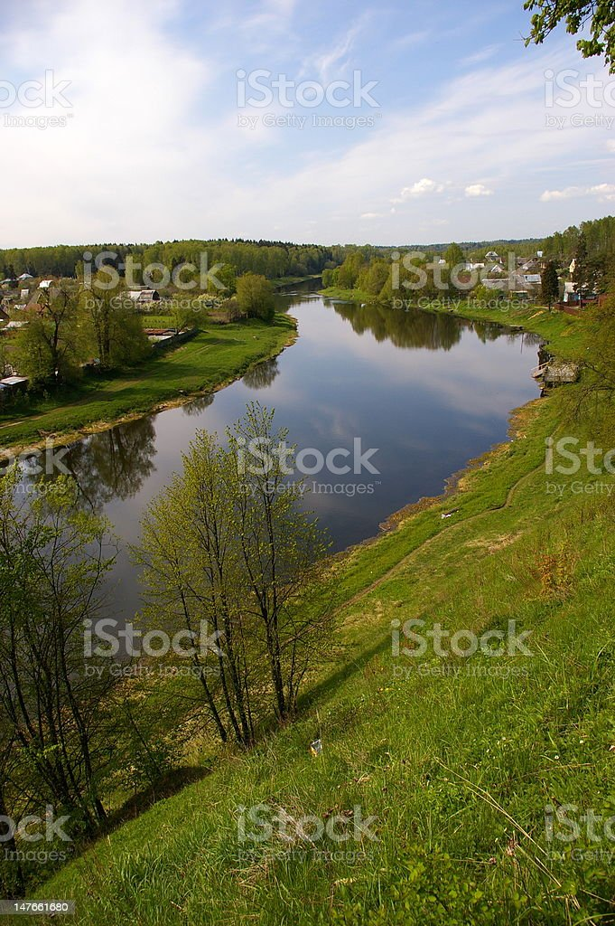 River Ruza royalty-free stock photo