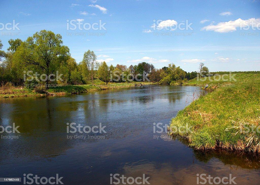 River Ruza royalty-free stock photo