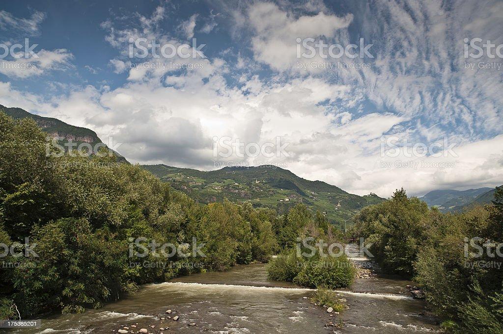 River Südtirol Alto Adige Italy Meran Valley stock photo