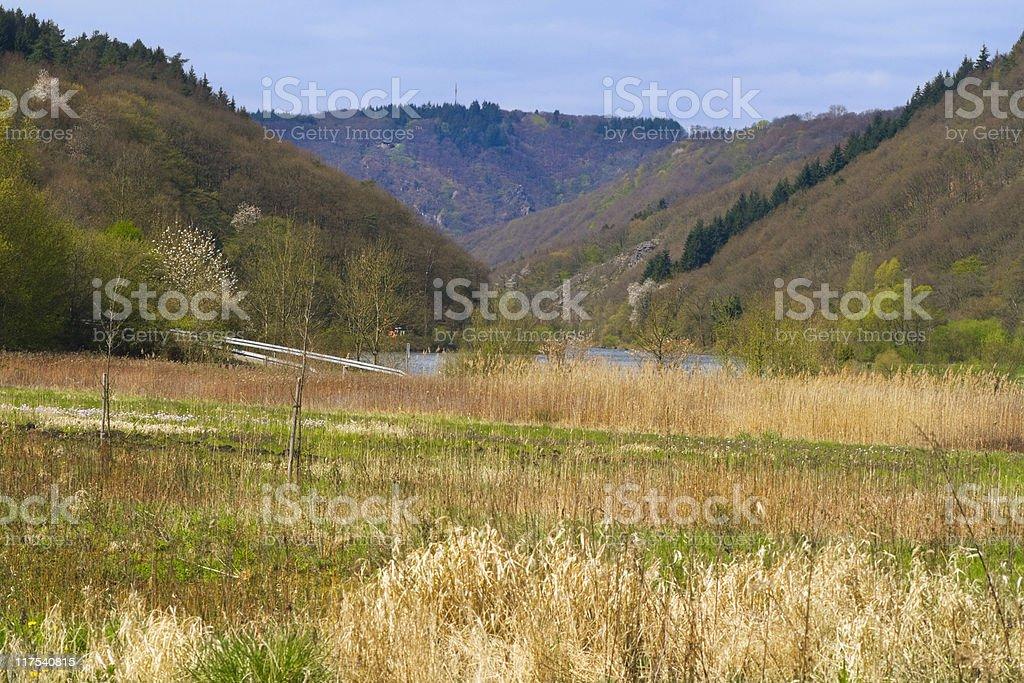 river Saar stock photo